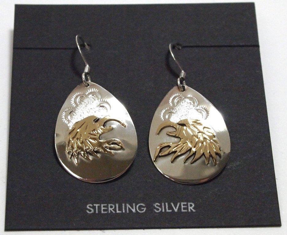 Navajo 12k Gold Fill over Sterling Silver Eagle Head