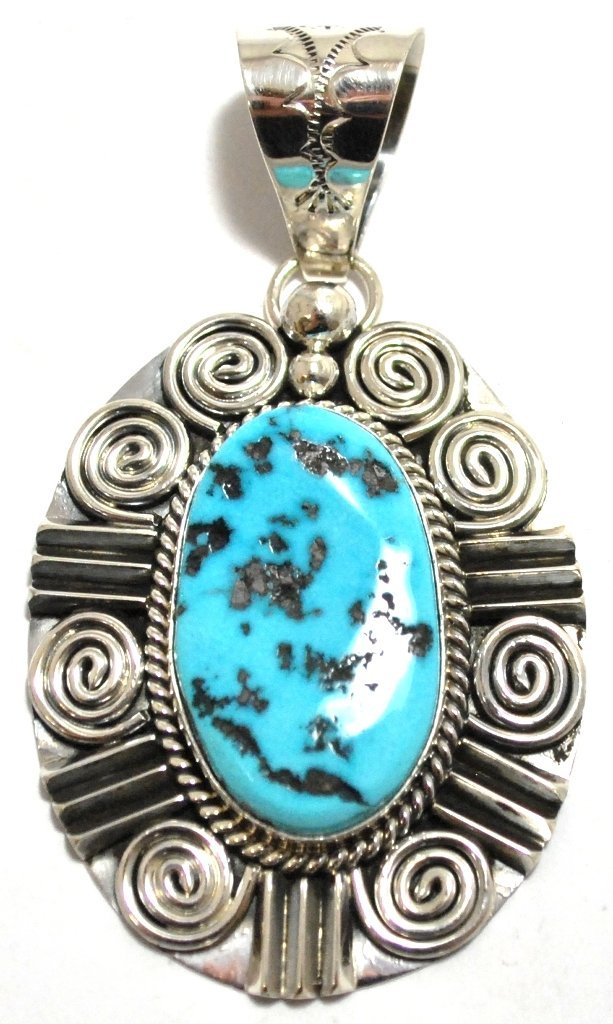 Navajo Sleeping Beauty Turquoise Sterling Silver