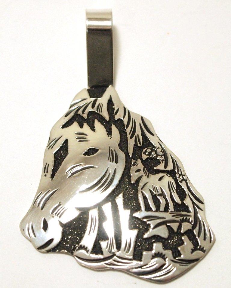 Navajo Sterling Silver Horse Pendant - Richard Singer