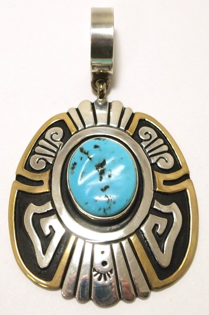 Navajo Turquoise 12k Gold Fill over Sterling Silver