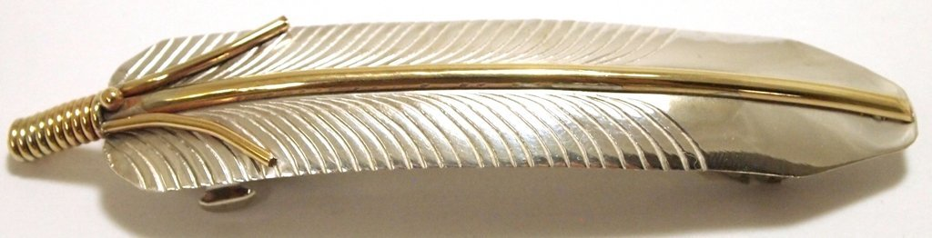 Navajo 12k Gold Fill over Sterling Silver Feather Hair