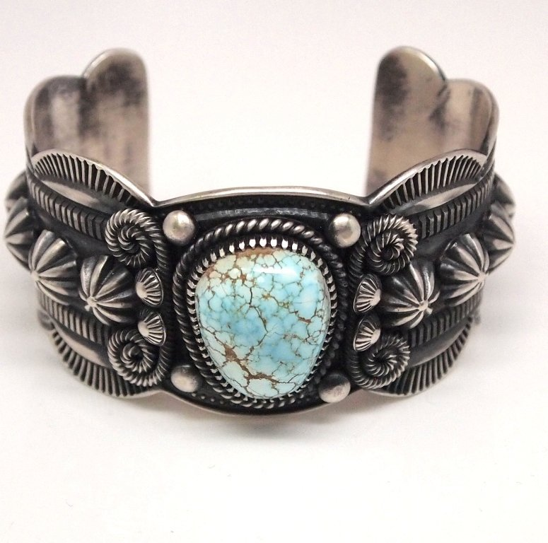 Old Pawn Navajo Dry Creek Turquoise Sterling Silver