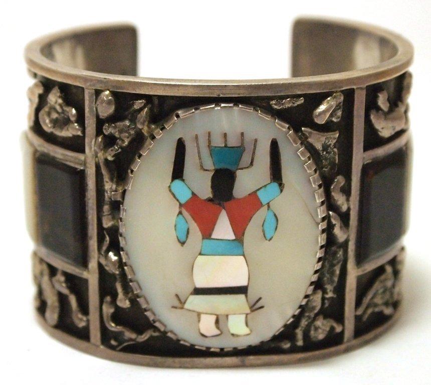 Vintage Old Pawn Zuni Multi-Stone Inlay Kachina