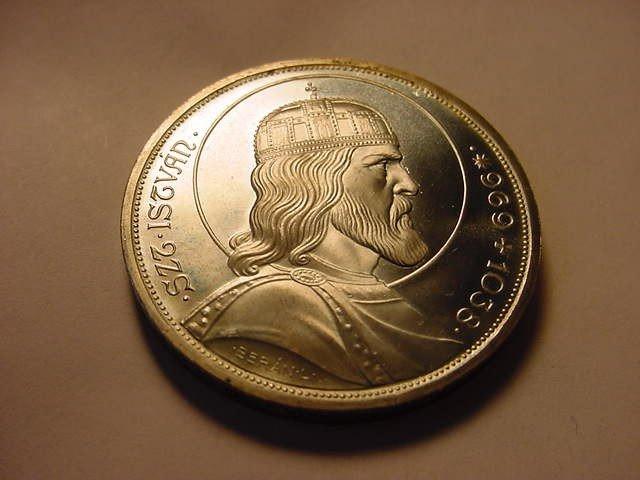 3: 1938 HUNGARY 5 PENGO GEM B.U. SILVER COIN