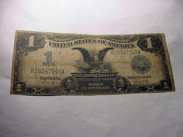 19: 1899 BLACK EAGLE $1.00 SILVER CERTIFICATE SHANGHAI