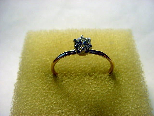 1: ANTIQUE TIFFANY & CO. 14K GOLD .30 CARAT DIAMOND RIN