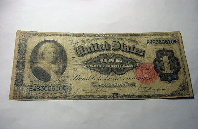 16: 1891 MARTHA WASHINGTON $1.00 SILVER CERTIFICATE