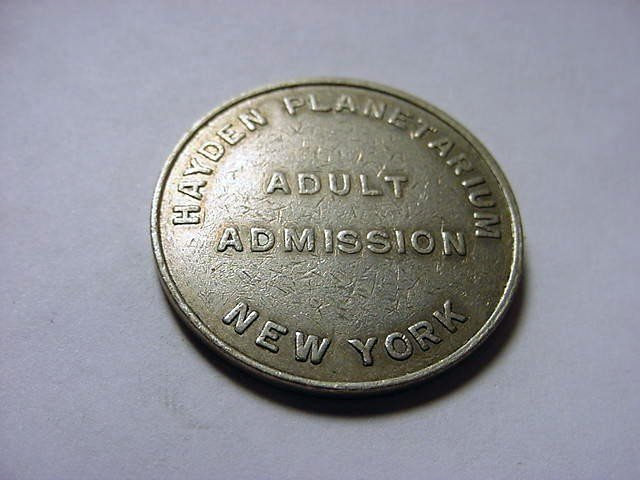 19: HAYDEN PLANETARIUM NEW YORK TOKEN