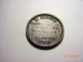 5: LIGONIER, IND. CIVIL WAR TOKEN R4 IN550-H-1a 50% ROT