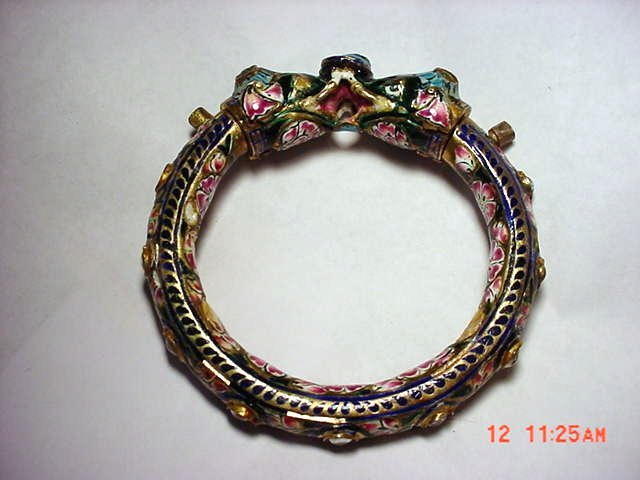1: ANTIQUE  SIAM ENAMEL BRACELET