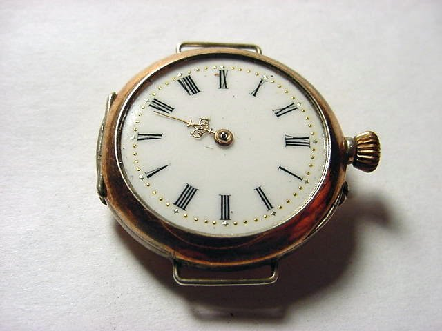 19: ANTIQUE 800 SILVER WRIST WATCH WORKS NEEDS CRYSTAL