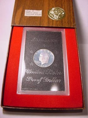10: 1972-S SILVER EISENHOWER DOLLAR GEM PROOF IN PRESEN