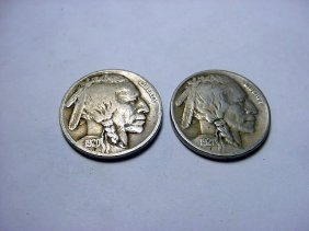 21: 1920 & 1921 BUFFALO NICKELS