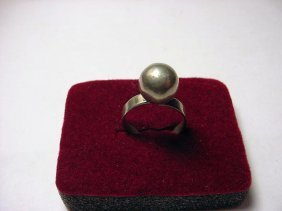 24: MODERNIST SILVER RING SIZE 8 ADJUSTABLE