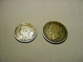 1894 CANADA 5 CENTS & 1899 10 CENTS