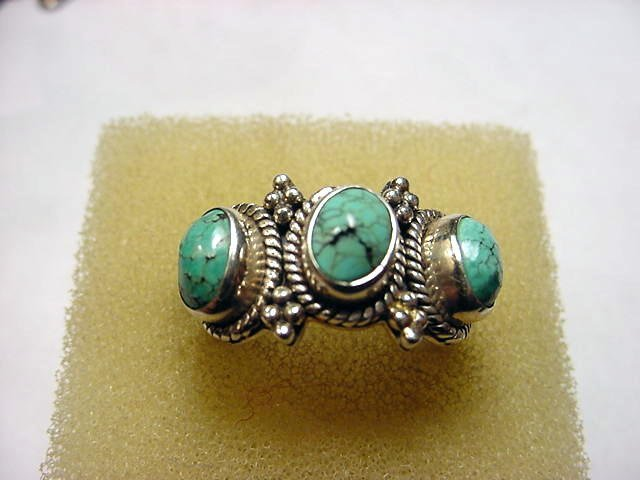 60: STERLING TURQUOISE RING