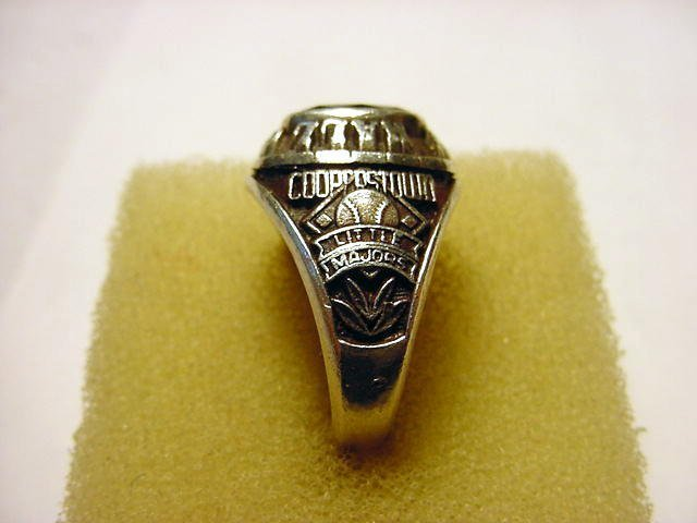 79: COOPERSTOWN LITTLE MAJORS STERLING RING - 2
