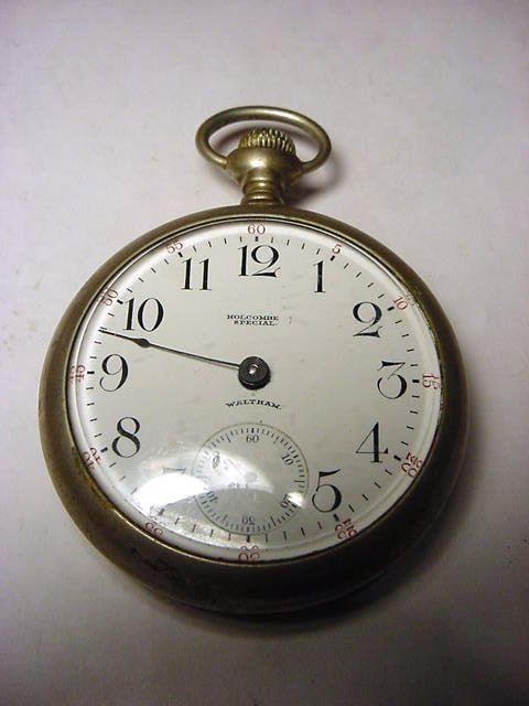 318: WALTHAM HOLCOMBE SPECIAL POCKET WATCH NEEDS WORK