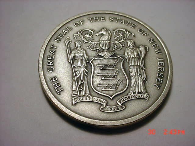 8: 1976 NEW JERSEY 999 SILVER MEDAL
