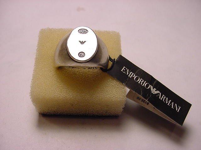 14: EMPORIO ARMANI STERLING RING SIZE 10.5