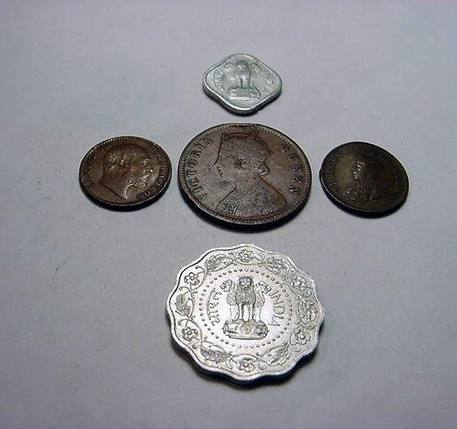42: OLDER INDIA COIN LOT
