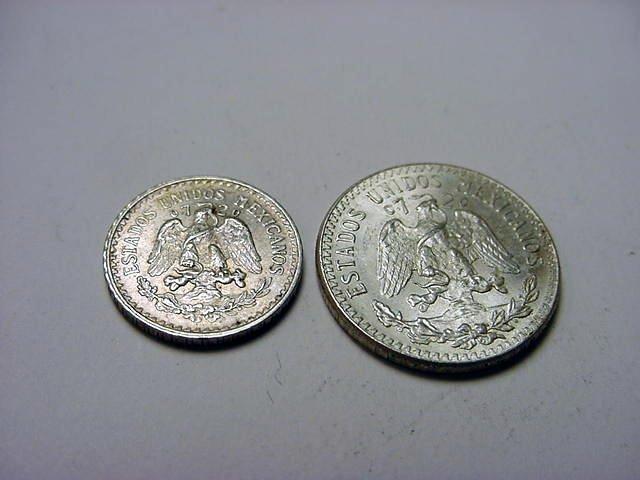 198: 1934 MEXICO 10 CENTAVOS & 1943 20 CENTAVOS UNC - 2