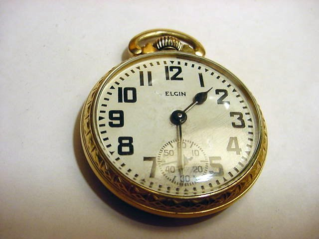 15: ELGIN 867 GOLD PLATED POCKET WATCH