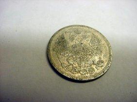 1869 RUSSIA 20 KOPEKS SILVER COIN