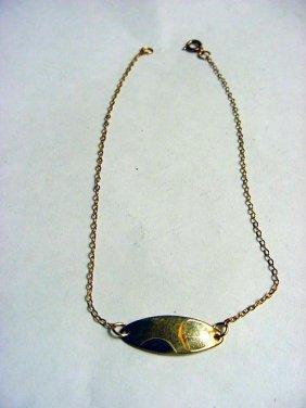 VINTAGE GOLD FILLED ANKLE BRACELET