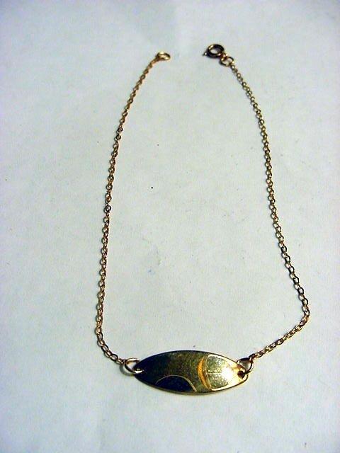 77: VINTAGE GOLD FILLED ANKLE BRACELET