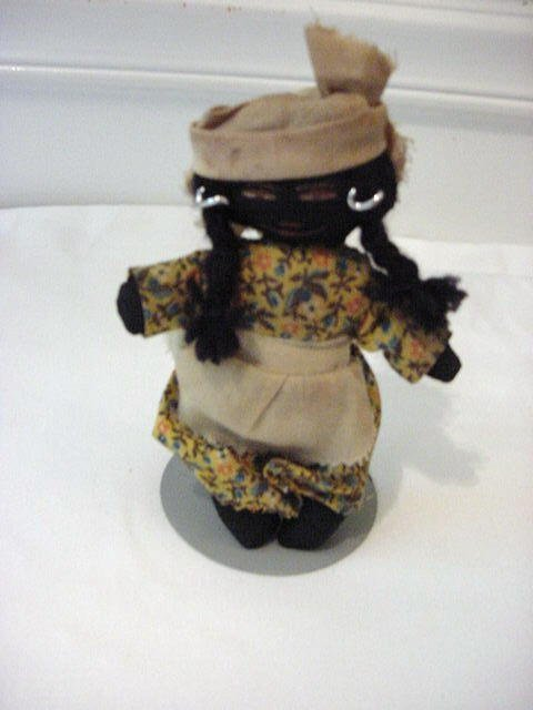 2: VINTAGE BLACK RAG DOLL