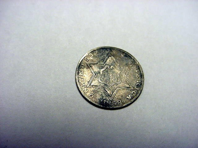 19: 1858 3 CENT SILVER
