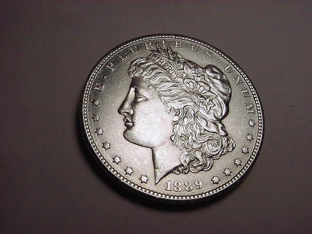 1: 1889-S MORGAN DOLLAR UNC