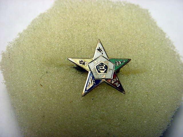 10: GOLD ENAMEL EASTERN STAR MASONIC PIN