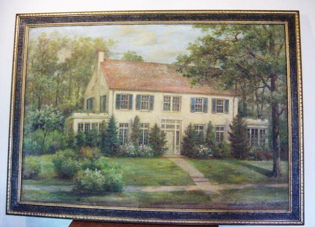 1: ANDREAS ROTH 1929 NEW ENGLAND HOUSE  OIL ON CANVAS 2