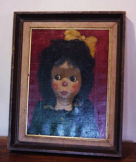 2: BOLLINI OIL PAINTING OF A  LITTLE GIRL