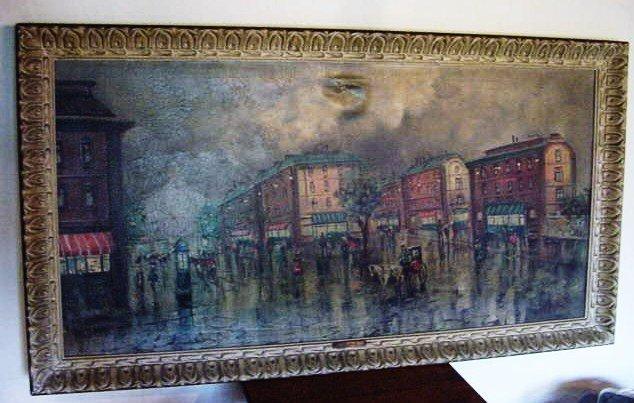 4: A. ROSSELLI PARIS STREET SCENE
