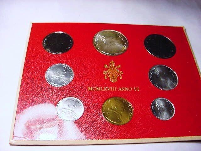 21: 1968 VATICAN COIN SET GEM B.U.