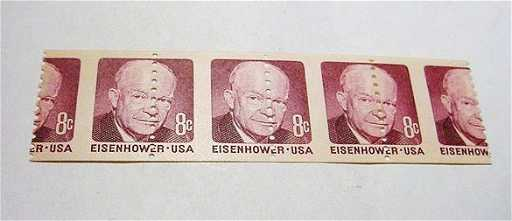 72 4 MISCUT ERROR EISENHOWER STAMPS