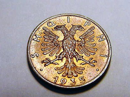 17: 1935 ALBANIA 1 QINDAR AR