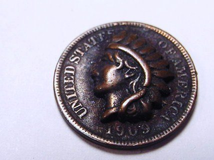 559: UNUSUAL 1909 INDIAN CENT