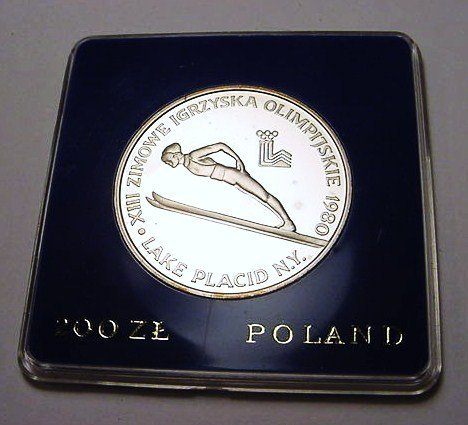 9: 1980 POLAND 200 ZL. OLYMPICS GEM PROOF SILVER COIN