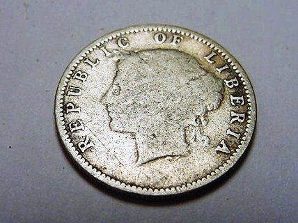 11: 1906 LIBERIA 10 CENTS SILVER COIN