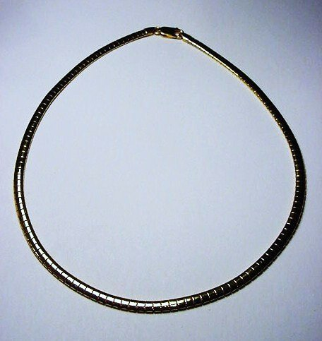 13: GOLD GILT STERLING SILVER NECKLACE