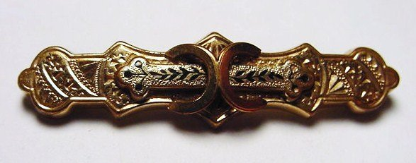 9: VICTORIAN GOLD FILLED PIN