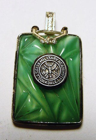 11: VINTAGE LASALLE MILITARY ACADEMY STERLING PENDANT