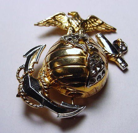 70: WWII STERLING MARINES SWEETHEART PIN