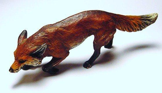 2: VINTAGE VIENNA BRONZE FOX STATUE