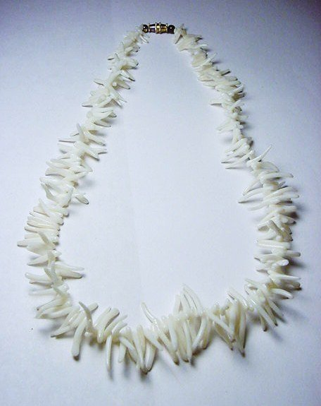 14: WHITE BRANCH CORAL NECKLACE