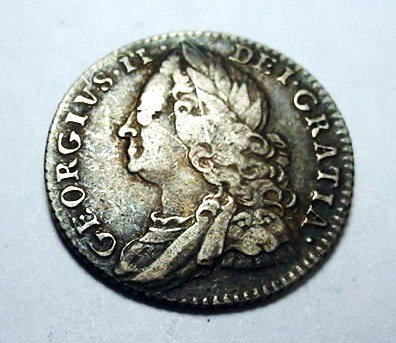 4: 1757 BRITISH 6 PENCE